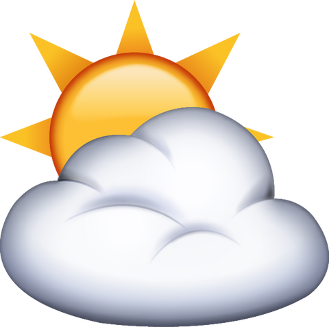 Download Sun Behind Cloud Emoji PNG