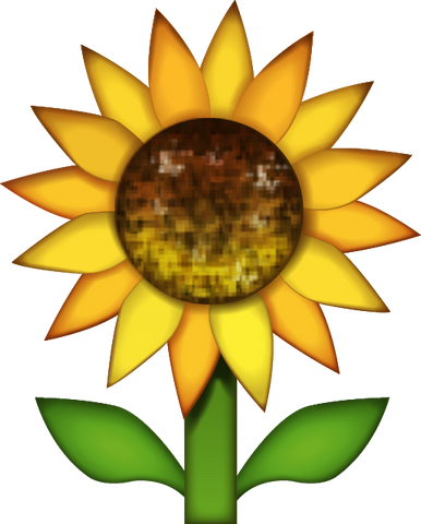 Download Sunflower Emoji PNG