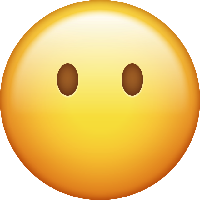 Download Emoji Without Mouth Emoji face [Iphone IOS Emojis in PNG]