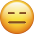 Download Expressionless Emoji face [Iphone IOS Emojis in PNG]