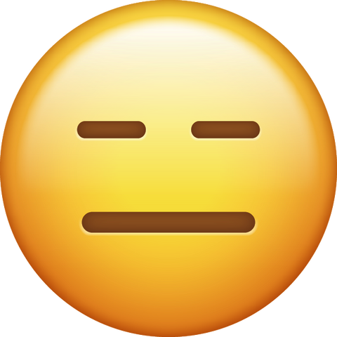 Expressionless Emoji [Download Expressionless Face Emoji in PNG]