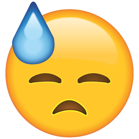Image result for sweat emoji