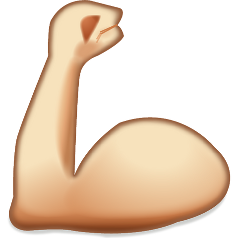 Image result for muscle emoji pngs