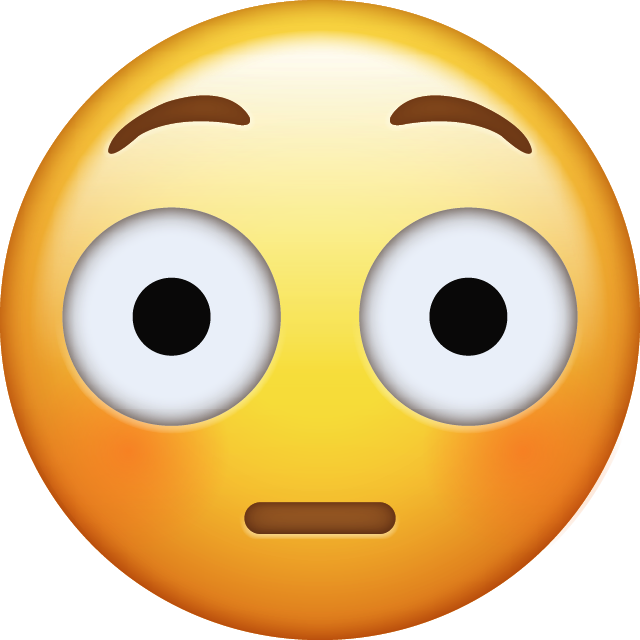 Download Flushed Emoji face [Iphone IOS Emojis in PNG]