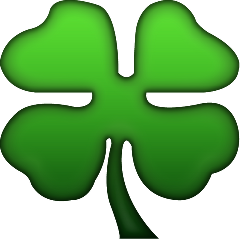 Download Four Leaf Clover Emoji  PNG