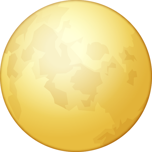 yellow moon emoji - photo #13