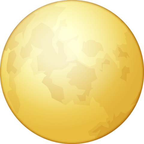 Download Full Moon Emoji PNG