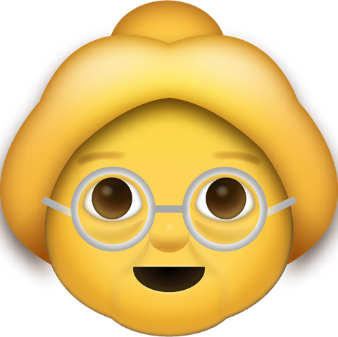 Download Grandma Iphone Emoji Icon in JPG and AI