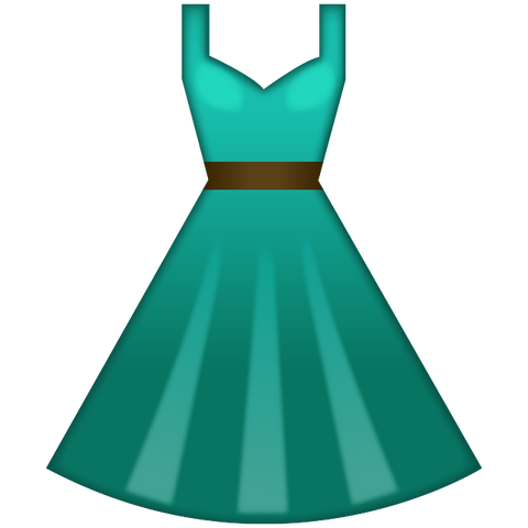 Download Green Dress Emoji Icon