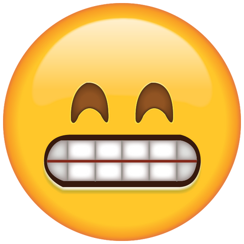 download grinning emoji with smiling eyes Icon
