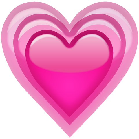 Download Growing Pink Heart Emoji Icon