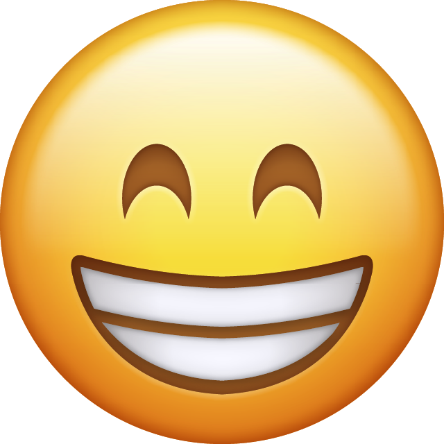 Download Happy Emoji face [Iphone IOS Emojis in PNG]