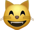 Download Happy Cat Emoji face [Iphone IOS Emojis in PNG]