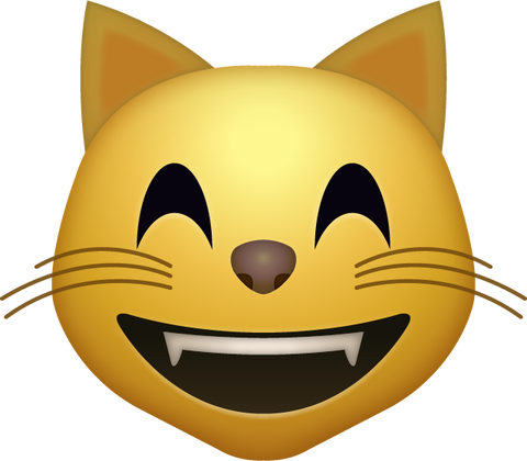 Happy Cat Emoji [Download Cat Face Emoji in PNG]