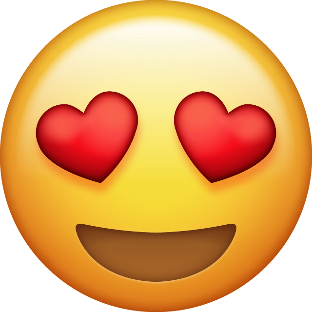 Download Heart Eyes Emoji [Free Iphone Emoji Images in PNG]