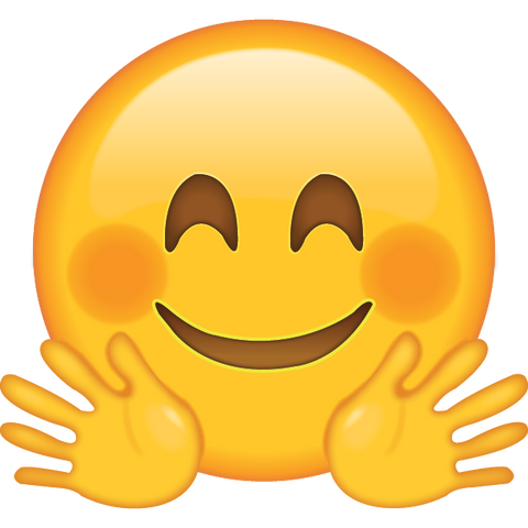 download hugging face emoji icon