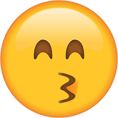 download kissing face with smiling eyes emoji Icon