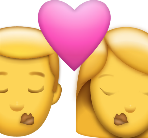 Download Man And Woman Kiss Iphone Emoji Icon in JPG and AI