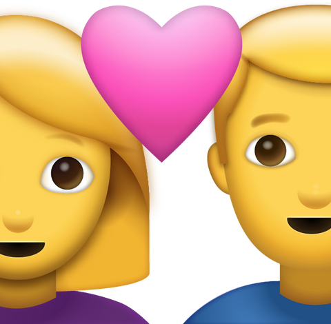 Couple With Heart Emoji [Download Apple Emoji in PNG]