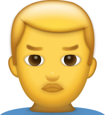 Download Man Frowning Iphone Emoji Icon in JPG and AI