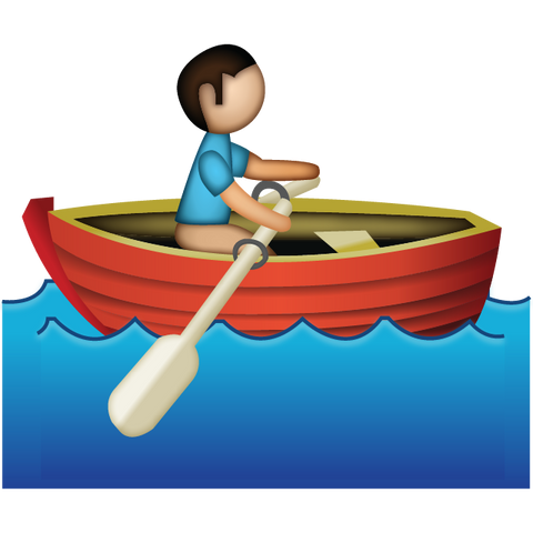 download man rowing emoji Icon