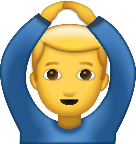 Man Saying Yes Emoji [Download Apple Emoji in PNG]