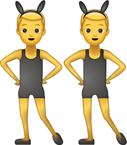 Men With Bunny Ears Emoji [Download Apple Emoji in PNG]