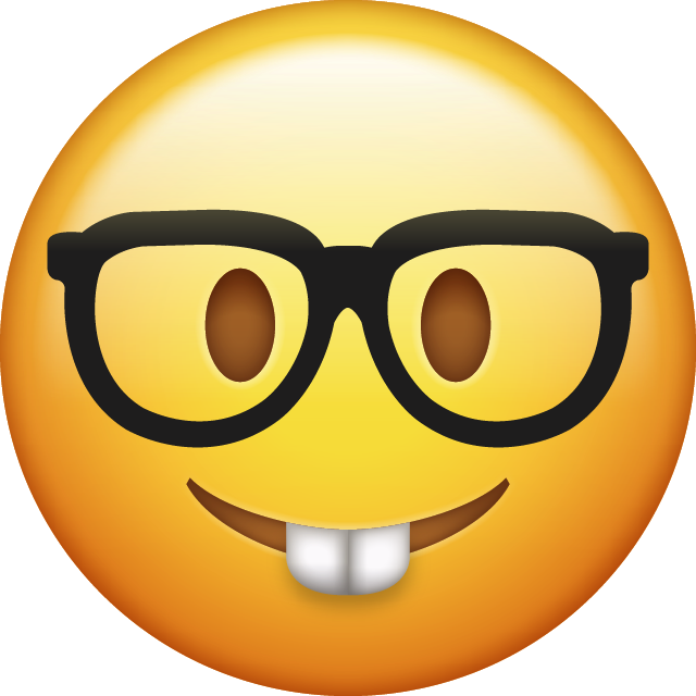 Download Nerd Iphone Emoji Image