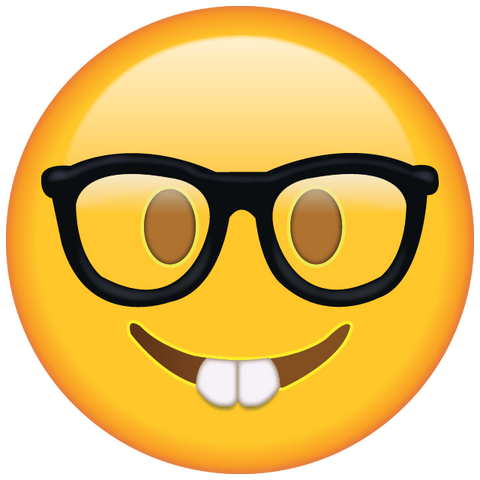 Image result for glasses emoji