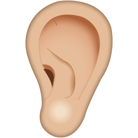 download one ear emoji Icon