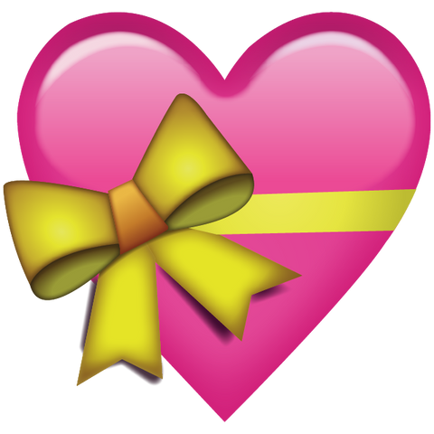 Download Pink Heart With Ribbon Emoji Icon Emoji Island