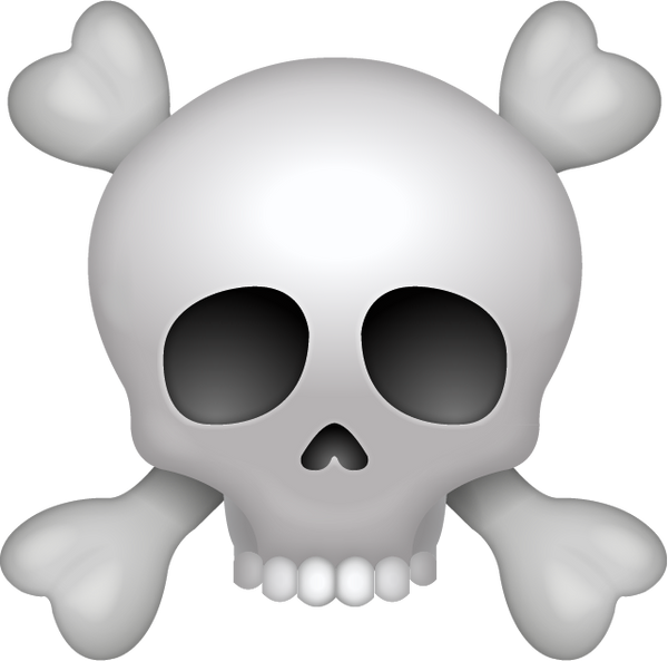 Download Pirate Skull Iphone Emoji Icon In JPG And AI