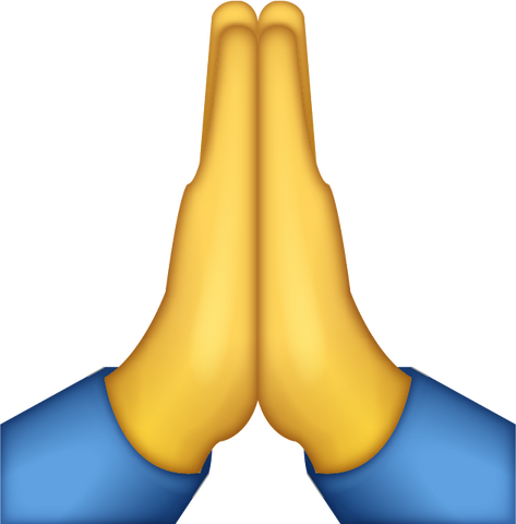 Praying Emoji [Download Apple Emoji in PNG]