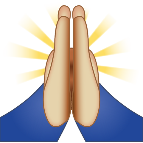 download praying emoji Icon