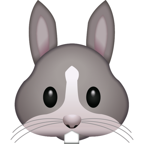download rabbit face emoji Icon
