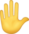 Download Raised Hand Iphone Emoji JPG