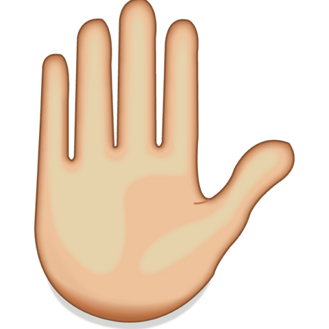 download raised hand emoji Icon
