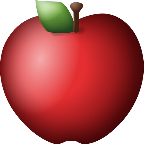 Download Red Apple Emoji Icon
