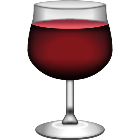 Download Red Wine Emoji Icon For Free