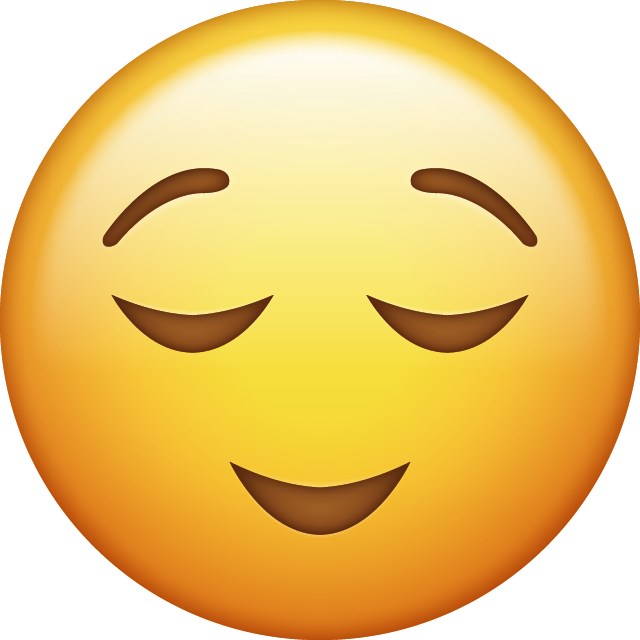 Download Relieved Iphone Emoji Image