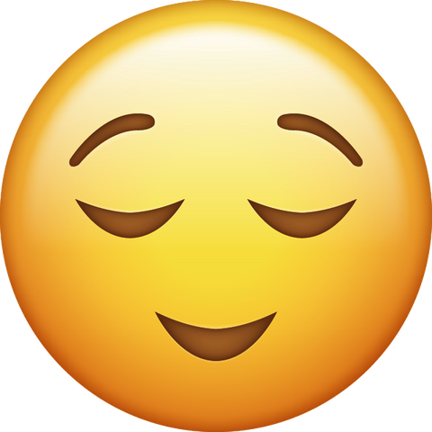 Relieved Emoji [Download Apple Emoji in PNG]