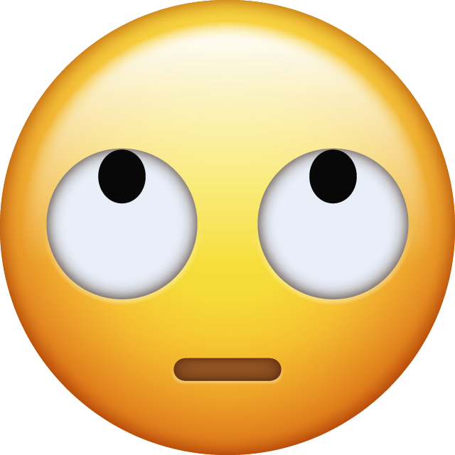 Download Eye Roll Emoji [Iphone IOS Free PNG]