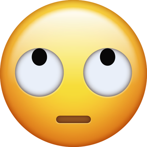 Eye Roll Emoji [Download Apple Emoji in PNG]