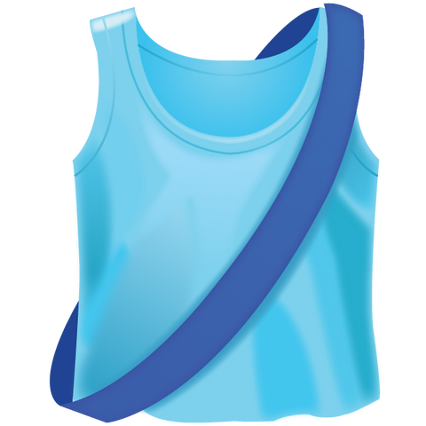 Download Running Shirt With Sash Emoji Icon