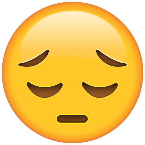 Download Sad Emoji Icon in PNG | Emoji Island Sad Emoji