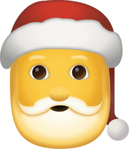 Santa Emoji [Santa Claus iPhone Emoji in PNG]