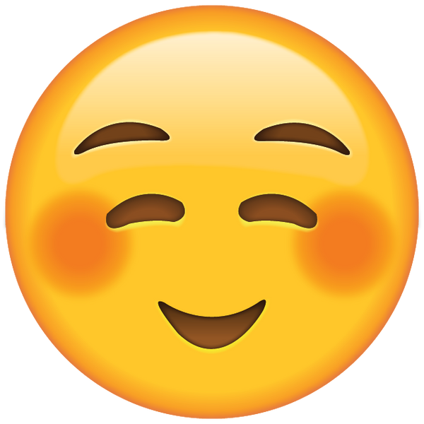 Shyly Smiling Face Emoji Icon on Language Emotions