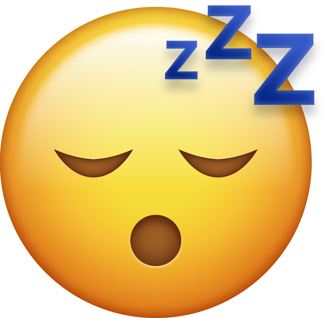 Download Sleeping Iphone Emoji Image