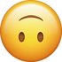 Download Upside Down Smiling Emoji face [Iphone IOS Emojis in PNG]