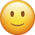 Download Slightly Smiling Emoji face [Iphone IOS Emojis in PNG]